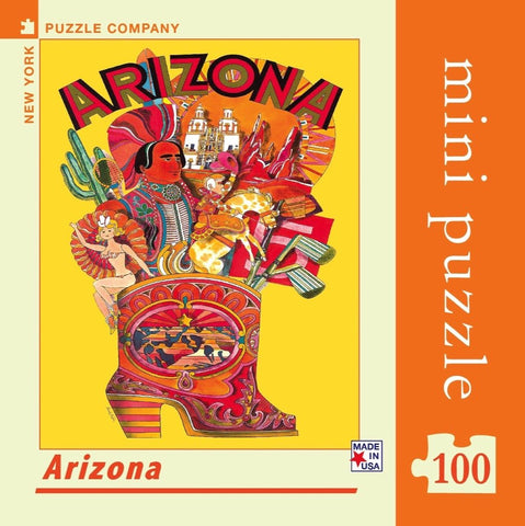 Arizona American Airlines Travel Poster Mini Travel Puzzle by New York Puzzle Company - (100 pieces)