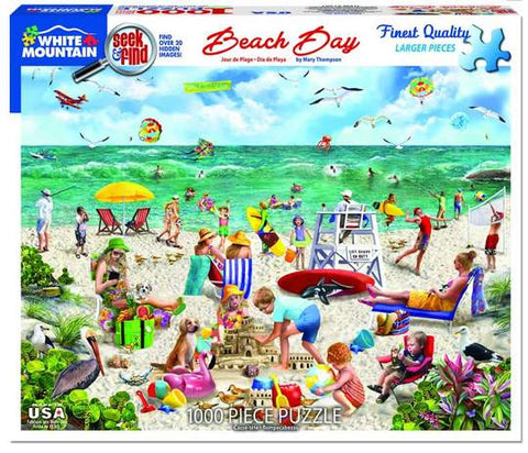 Beach Day Puzzle by White Mountain - (1,000 pieces)