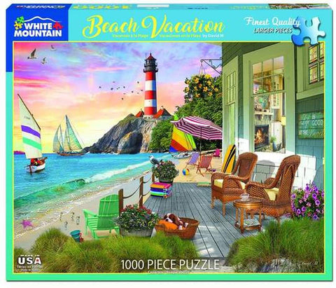 Beach Vacation Puzzle by White Mountain - (1,000 pieces)