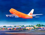 Braniff 747 Fat Albert Notecard