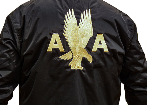 AA 40's Eagle Black Bomber Jacket