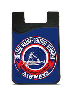 Boston-Maine Airways and Central Vermont Airways 1930's Bag Sticker Card Caddy