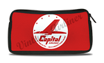 Capital Airlines Red Logo Travel Pouch