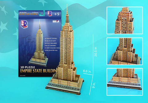 Empire State Building 3D Puzzle 55 Pieces