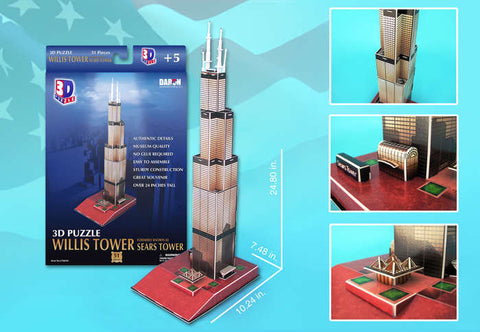 Willis Tower 3D Puzzle 51 Pieces