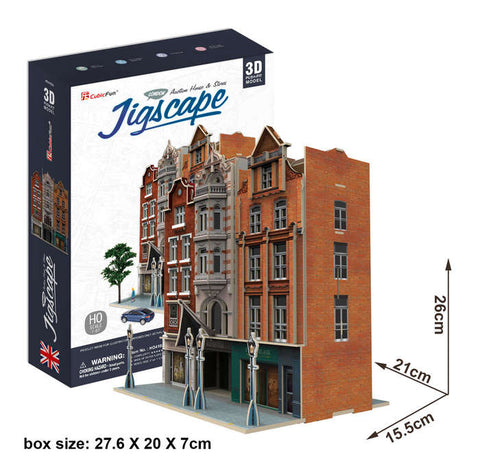 Auction House & Stores 93 Piece 3D Puzzle