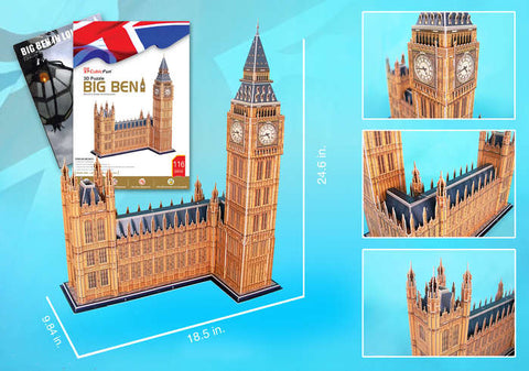 Big Ben 3D Puzzle With Book 117 Pcs