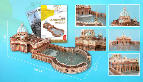 St Peters Basillca 3D Puzzle With Book 144 Pcs