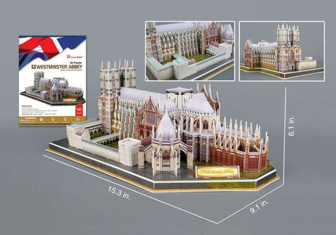 Westminster Abbey 3D Puzzle 145 Pieces W/ Book