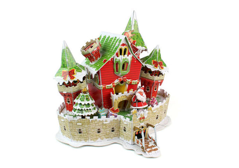 Christmas Castle 3D Puzzle 53 Pieces W/Lights (**)