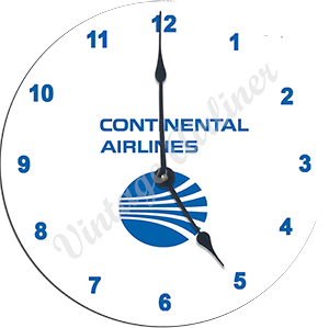 Continental Airlines Last Logo Wall Clock