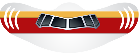 Continental Livery Airplane Face Mask