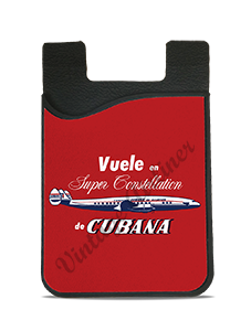Cubana Airlines 1950's Vintage Bag Sticker Card Caddy