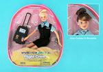 Westjet Flight Attendant Doll W/ Luggage