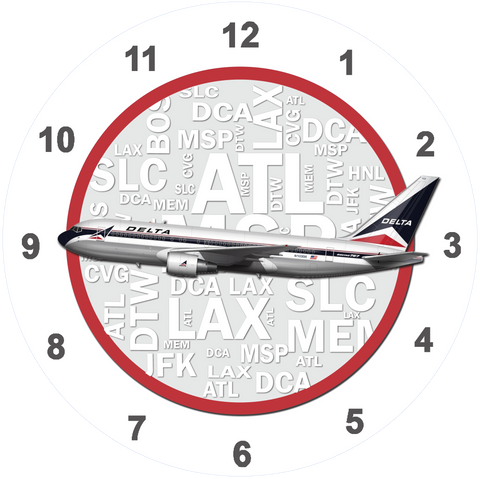 Delta Air Lines 767 Widget Livery Wall Clock
