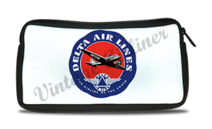 Delta Air Lines Vintage 1940's Airline of the South Bag Sticker Travel Pouch