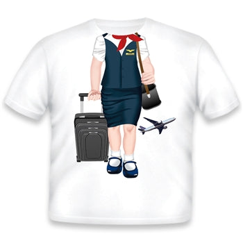 Add A Kid Toddler Female Flight Attendant T-shirt