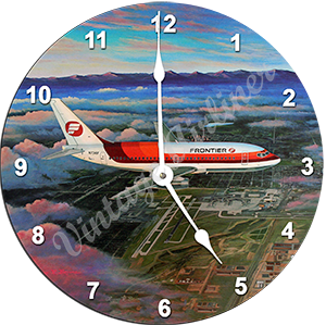 Frontier Airlines 737 Wall Clock