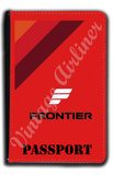 Frontier Airlines 1970's Logo Red Passport Case