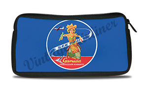 Garuda Indonesia Airlines Bali Vintage Bag Sticker Travel Pouch