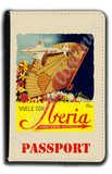 Iberia Airlines 1940's DC-4 South America Bag Sticker Passport Case