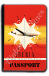 Iberia Airlines 1950's Consteallation Bag Sticker Passport Case