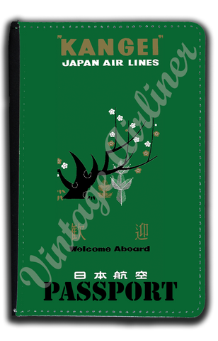 Japan Airlines Vintage Timetable Cover Passport Case