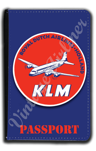 KLM Vintage Bag Sticker Passport Case