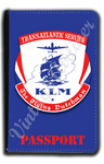 KLM Trans-Atlantic Vintage Bag Sticker Passport Case