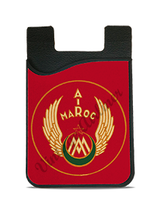 Air Maroc 1940's Bag Sticker Card Caddy
