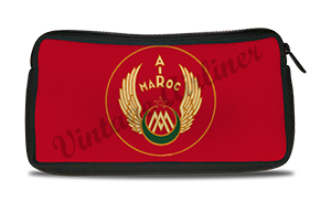 Air Maroc 1940's Vintage Bag Sticker Travel Pouch