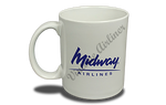 Midway Airlines 1993 Logo 11 oz. Coffee Mug