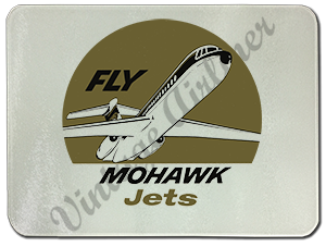 Mohawk Airlines Mohawk Jets Bag Sticker Glass Cutting Board