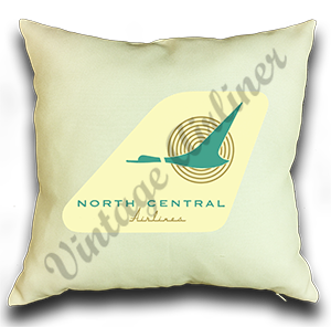 North Central Airlines 1950's Logo Pillow Case Cover
