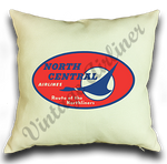 North Central Airlines Vintage Pillow Case Cover