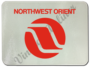 Northwest Airlines Last Logo Glass Cutting Board