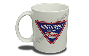 Northwest Airlines 1930's Sky Zephyrs Bag Sticker 11 oz. Coffee Mug