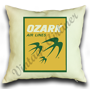 Ozark Airlines Yellow Logo Pillow Case Cover