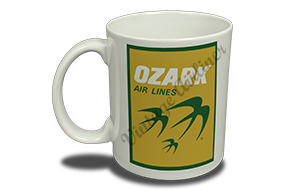 Ozark Airlines Yellow and Green Logo 11 oz. Coffee Mug