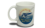 Pan American World Airways 1930's Vintage Bag Sticker 11 oz. Coffee Mug