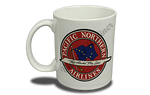 Pacific Northern Airlines Vintage Bag Sticker 11 oz. Coffee Mug