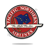 Pacific Northern Airlines Bag Sticker Round Coaster