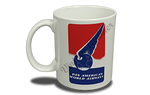 Pan American World Airways 1940's Vintage Bag Sticker 11 oz. Coffee Mug