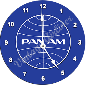 Pan Am Globe Logo Wall Clock