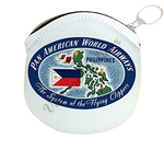 Pan American Airways Vintage Philippines Bag Sticker Round Coin Purse