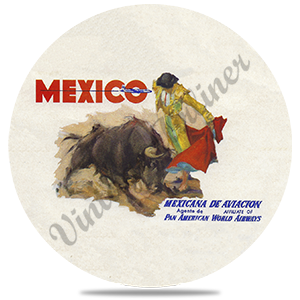 Pan American World Airways Mexico Vintage Round Coaster