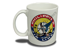 Philippines Airlines 1950's Vintage Bag Sticker 11 oz. Coffee Mug