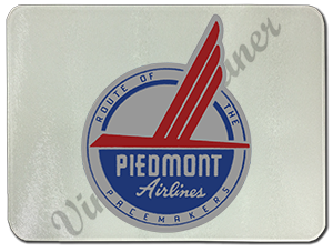 Piedmont Airlines Pacemaker Bag Sticker Glass Cutting Board