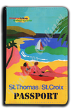 AA St. Thomas/St. Croix Travel Poster Passport Case
