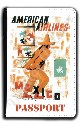 AA Mexico Travel Poster Passport Case